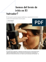 Qué Sabemos Del Brote de Conjuntivitis en El Salvador
