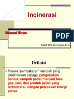 (11)INCINERASI