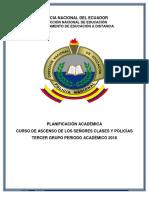 Planificación Curso de Ascenso 3er Grupo 2018