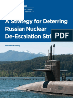 A Strategy for Deterring Russian De-Escalation Strikes