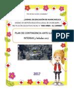 Plan de Contingencia Sobre Lluvias Intensas y Heladas 2017
