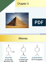 Chapter 3 - Alkenes
