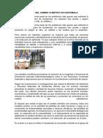 Impacto Del Cambio Climático en Guatemala