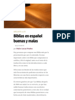 Biblias en Español Buenas y Malas