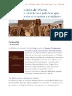 Nueva traducción del Nuevo Testamento