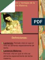 Composicion y Ventajas de La Leche Materna
