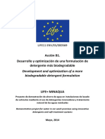 Formulación de Detergente Más Biodegradable
