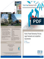 Public-private Partnership Policies Legal Framework and Competition Requirements 2018