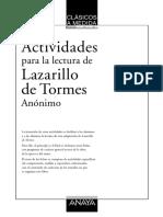 Actividades Del Lazarillo de Tormes