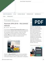 Normas APA 2018 – 6ta (Sexta) Edición