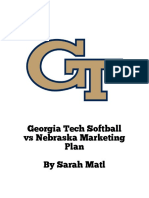 georgia tech softball marketing plan