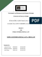 Pil Project - Is International Law a True Law