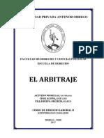 Monografía 02. El Arbitraje