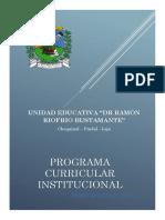 Plan Curricular Institucional Unidad Ed Rrr