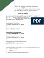 Acta de Constitución e Instalación de Comité de SST