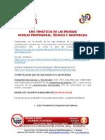 01ejes Temáticos de Las Pruebas Niveles Profesional Tecnico y Asistencial