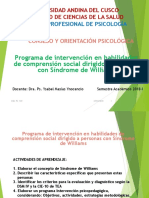 Programa de Intervención en Sindrome de Williams