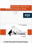 1 & 2 Skills in Long Essay Writing & Research