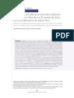 Factores Asociados a La Adherencia de Micronutrientes