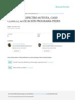 TRASTORNO ESPECTRO AUTISTA, CASO CLÍNICO, APLICACIÓN PROGRAMA PEERS