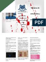 Técnicas de orientación y confirmación de sangre