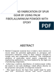 Design and Fabrication of Spur Gear by Using Palm Fiber,Aluminium Powder With Epoxy