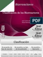 Clasificacón de Biorreactores
