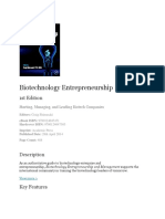 Biotechnology Entrepreneurship Book outline.docx