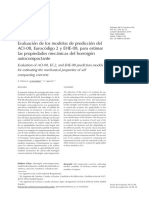 Evaluación de los modelos de predicción del ACI-08, Eurocódigo 2 y EHE-08, para estimar las propiedades mecánicas del hormigón autocompactante.pdf