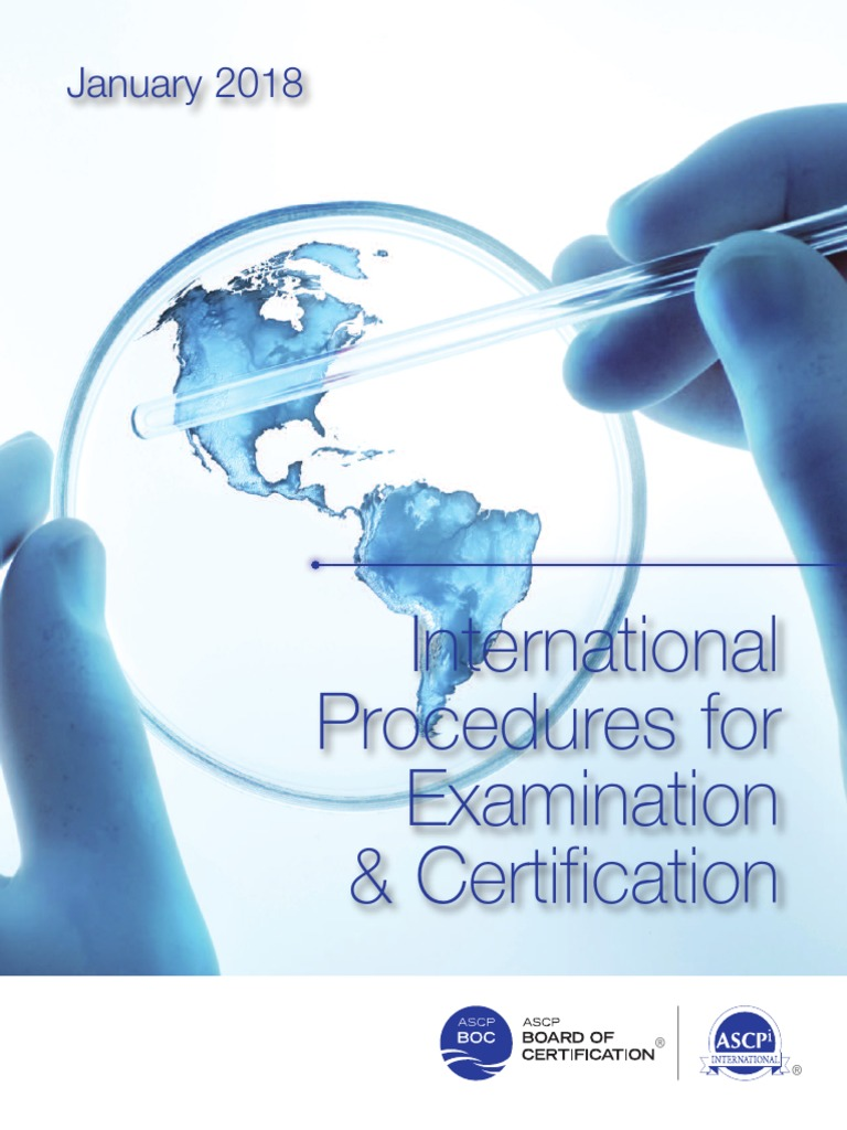 Ascp International Procedures Book Professional Certification