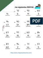 Fichas Restas Con y Sin Llevada 2 Cifras 2018 PDF 1
