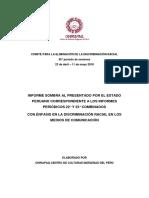 Informe sombra al presentado por el Estado Peruano