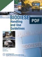 US Dept Energy Biodiesel Guidelines