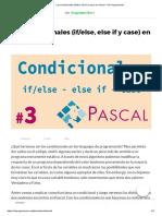 Los Condicionales (If_else, Else if y Case) en Pascal - De Programación