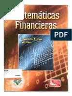 Matemáticas Financieras Mauricio Ávalos Septién