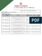 Cotação de Reagentes Sigma Aldrich