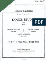 Castérède, J. 12 Estudios. Ed. Leduc