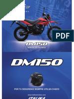 Italik Dm150 con tabla de mantenimiento