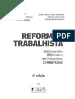 Demonstrativo de Um Caderno de Exercicios Sobre a Reforma