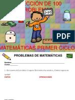 Colección de 100 Problemas Matemáticas Primer Ciclo Editables