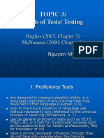 Testing TOPIC 3. Kinds of Tests