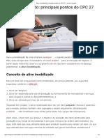 Ativo Imobilizado_ Principais Pontos Do CPC 27 - Jornal Contábil