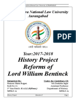 History Project on William Bentinck