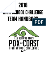 2018 Les Schwab Tires High School Challenge Handbook
