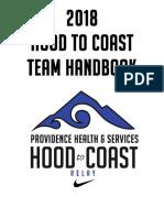 2018 Providence Hood To Coast Relay Handbook