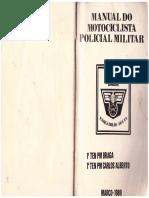 Manual Do Motociclista PM - 1989