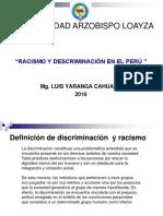 Racismo y Discriminación en El Peru 1er