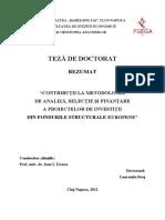 TEZA de Doctorat