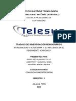 Monografia Personalidad y Autoestima Telesup