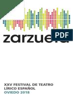 2018 Programa Zarzuela XXV Oviedo